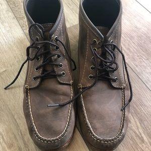 Men's L.L. Bean Handsewn leather boots size 12